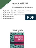 Histologia- Aula 1- Turma B