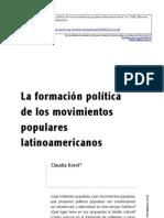 Korol formación política y mov sociales