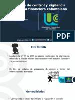 control y vigilancia sistema financiero colombiano