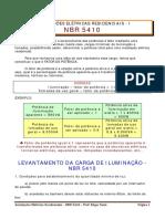 3 - INSTALAÇÕES ELÉTRICAS RESIDENCIAIS - NBR 5410