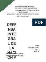 DEFENSA INTEGRAL DE LA NACION V. ALEXANDRA GOTERA