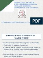 Carlota Pérez _ Enfoque Institucional de Cambio Técnico  [Exposición]