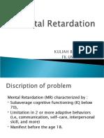 Mental retardation 2015