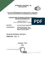 Informe Lab 4 (UControladores) - Interrupciones y Timers