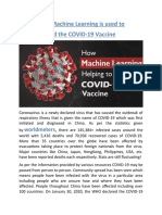 How Machine Learning is Used to Find the COVID-19 Vaccine