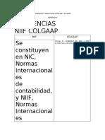 DIFERENCIAS Y SIMILUTUDES ENTRE NIIF Y COLGAAP