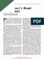 Democracy's Road to Tyranny