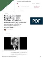 Roman Jakobson_ biografía de este filólogo y lingüista