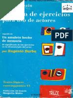Teatro francés contemporáneo VI Libro de ejercicios para el uso de actores Patrick Pezin Traducción