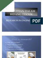 Penelitian dalam bidang Teknik