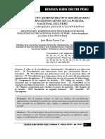 Procedimiento Disciplinario Policial Infracciones Leves - Autor José María Pacori Cari