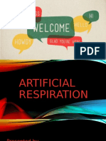 Artificial respiration F