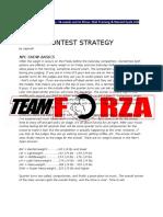 NPC Pre Contest Strategy