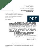 CONTESTACION DE AGRAVIOS DE LA APELACION DE LA NO VINCULACION