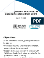 Case management of SARI COVID-19 at district hospitals without an ICU 18March.pptx