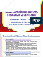 LOE 1999 - Subsistema y Niveles