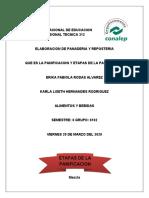 ETAPAS DE LA PANIFICACION