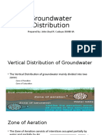 Groundwater Distribution-Groundwater movement- Springs and Geyser