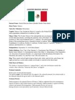 COUNTRY PROFILE mexico