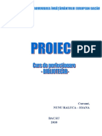 Proiect curs bibliotecar - Nunu Raluca