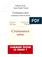 Patrick Artus, Marie-Paule Virard - Croissance zéro-Fayard (2015)