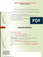 Renewable Energy Sources—Solar and Wind