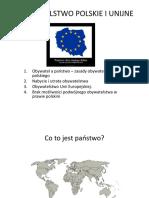 obywatelstwo polskie i unijne  1