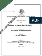 college Information moodule by sushant mundkar