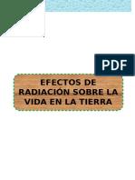 Informe Efectos de la radiacion sobre la tierra