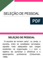 IPUFU31702 (3)(4) – Seleção de Pessoal
