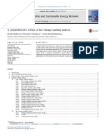 A comprehensive review of the voltage stability indices