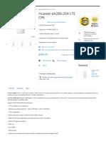 CPE Cat5 Indoor Huawei eA280-204 LTE CPE