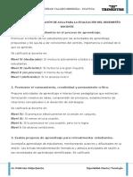 RUBRICAS DE OBSERVACION EN EL AULA