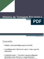 AULA 02 - HISTÓRIA DA TESTAGEM PSICOLÓGICA