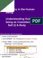Human value 1.1 Und Human Being - Self & Body