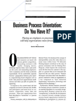 Business Process Orientation - Do You Have It
