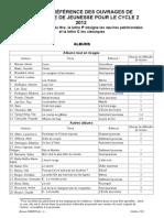 Liste Littérature Cycle 2
