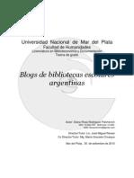 Relevamiento de los blogs de bibliotecas escolares argentinas