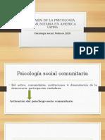 PRAXIS DE LA PSICOLOGIA COMUNITARIA EN AMERICA LATINA