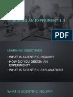 Designing an Experiment (PDF)