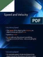 Speed and Velocity (PDF)
