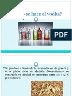 Cómo se hace el vodka