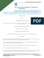 Decreto 1076 de 2015 Sector Ambiente y Desarrollo Sostenible Único Reglamentario