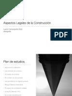 Presentación 1-Aspectos legales de la construcción