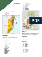 Localización Política y Administrativa de cada país de Centro América