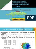 FUNDAMENTOS DE PROGRAMACION - ELECT Y TELECOM - CICLO 2 - Capítulo 5 - OK - Arrays