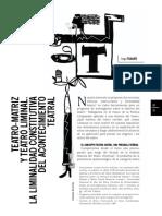 Dubatti - Teatro matriz y teatro liminal