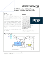 LD7576PS Green-Mode PWM Controller with High-Voltage Start-Up Circuit and Adjustable OLP Delay Time