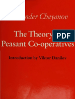 The Theory of Peasant Co-Operatives
