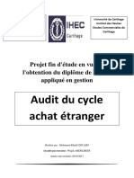 Audit of the Purchasing Cycle Abroad